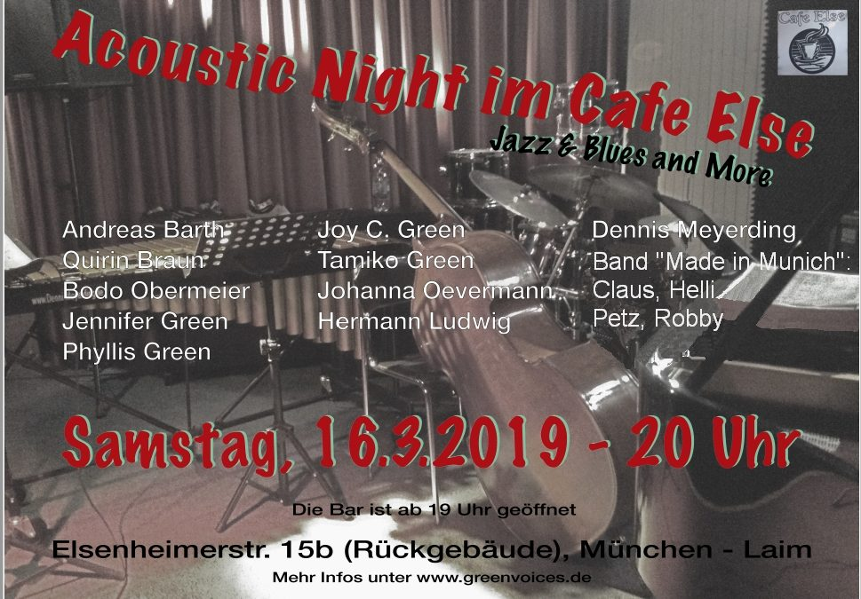 Acoustic Night im Cafe Else